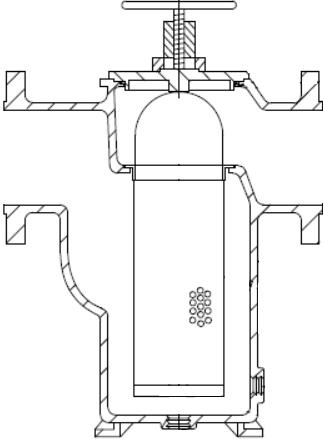 Simplex strainer design with dual annulis basket design