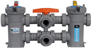 Hayward PVC duplex strainer