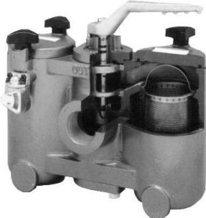 Keckley duplex strainer cutaway