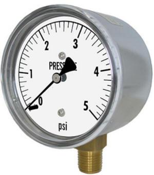 Pressure gauge for low pressures