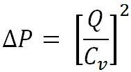 Pressure Drop Formula