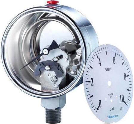 Inside a pressure gauge