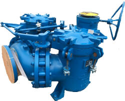 Duplex strainer for pump suction applications