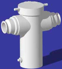 PTFE and PVDF Tri-Clamp Basket Strainer