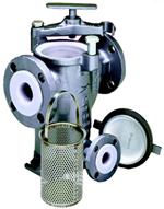 Model 72L Tefzel lined simplex strainer