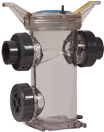 Hayward simplex strainer made of clear Eastar copolyester
